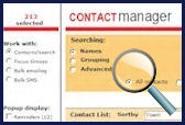 contact manager screen