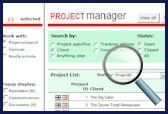Project manager screen