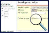 Lead generation screen